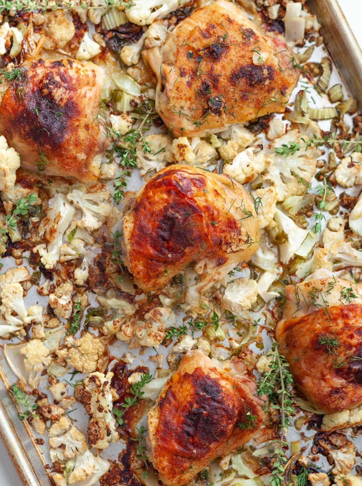 Sheet Pan Honey Mustard Chicken And Cauliflower Kitchen Skip