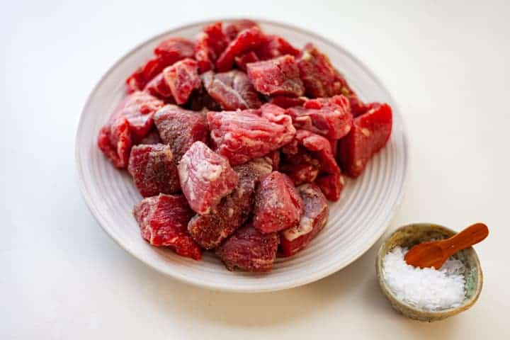 bowl of beef stew meat