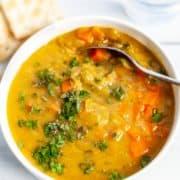 bowl of split pea soup