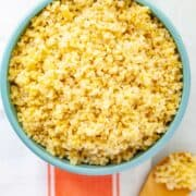 bowl of cooked millet
