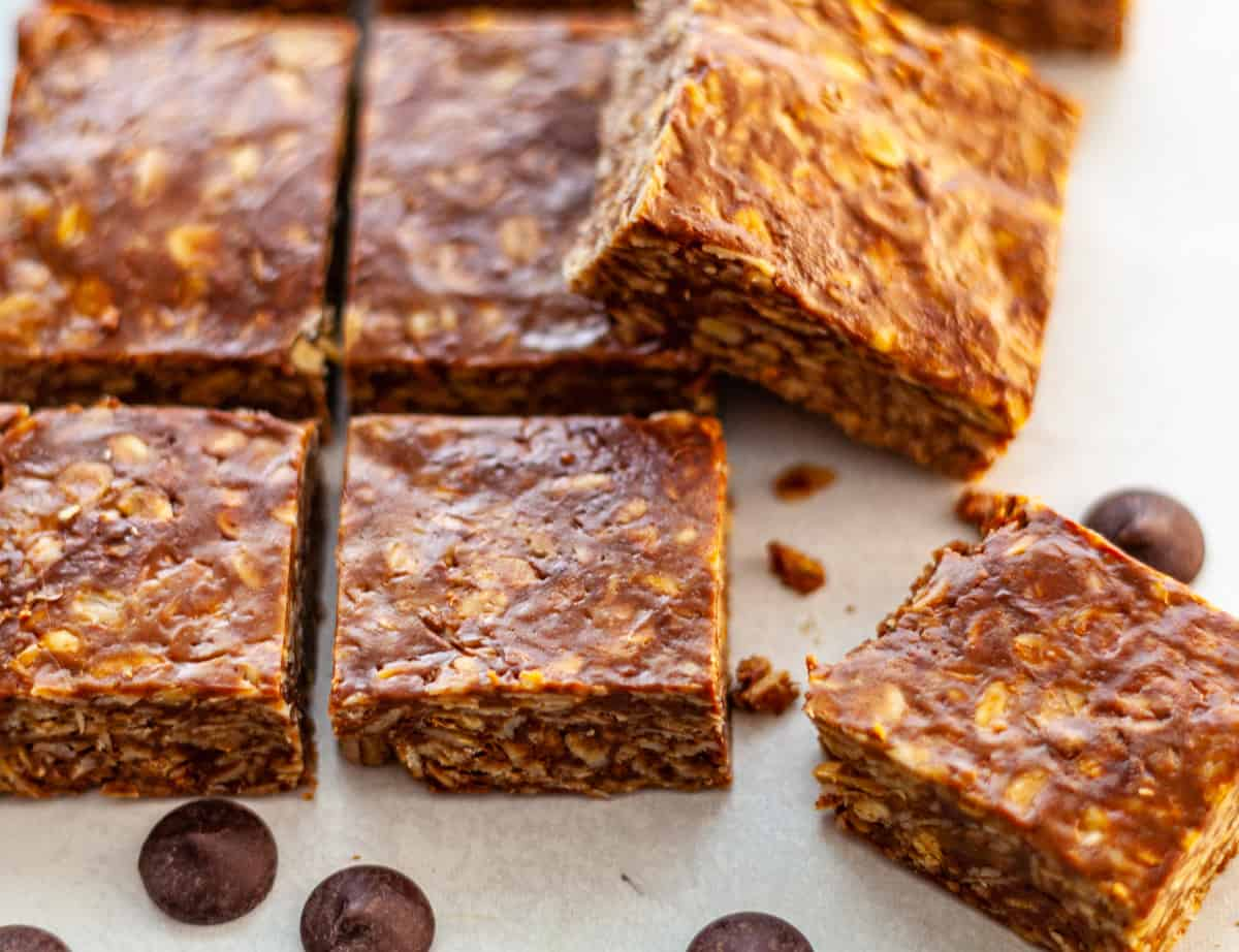 homemade granola bars made with sunflower butter