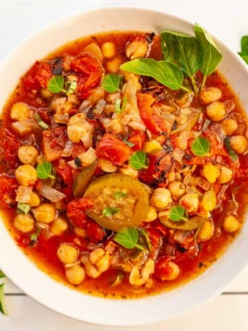 bowl of vegetarian stew