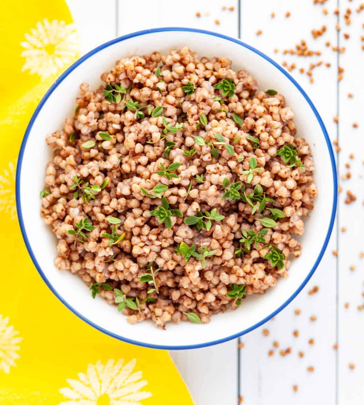 bowl of Instant Pot buckwheat