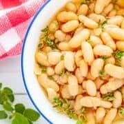 bowl of Instant Pot White Beans