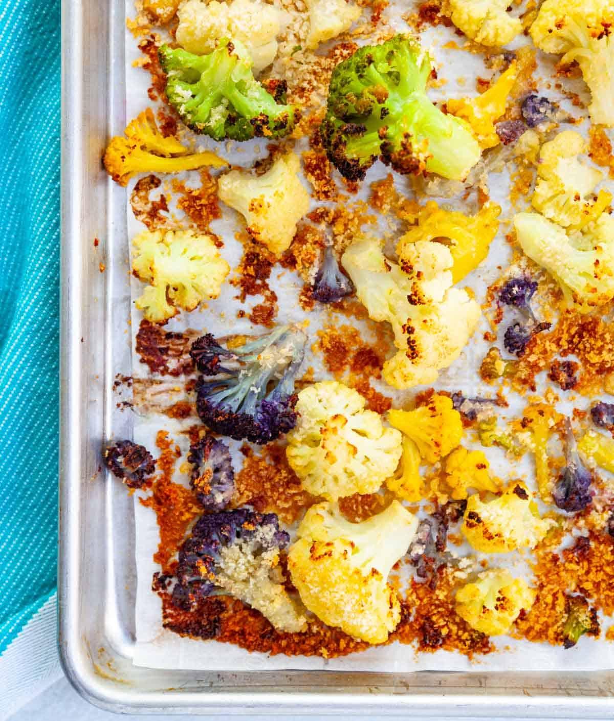 sheet-pan frozen cauliflower